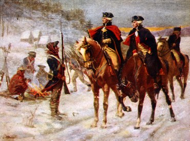 Washington and Lafayette at Valley Forge (Library of Congress)