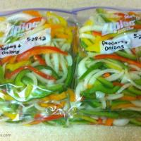 Freezing Peppers and Onions