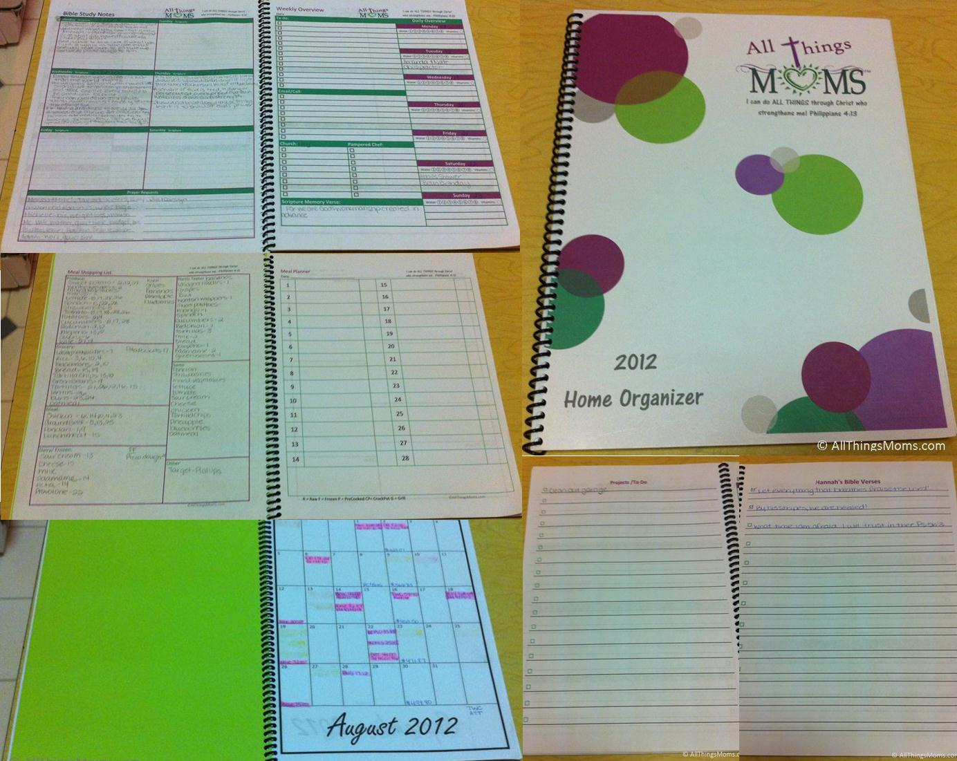Organized Household Notebook Printable Pages