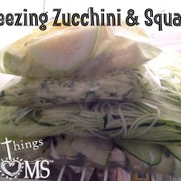 Freezing Zucchini and Squash
