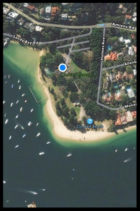 aerial view of clontarf beach