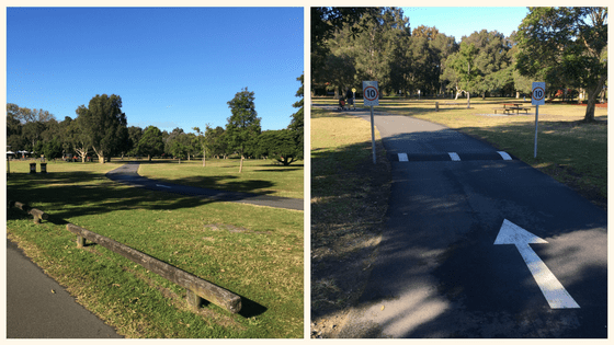Where to cycle with kids in centennial parklands