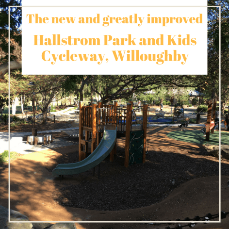 the new Hallstrom Park and Cycleway in Willoughby