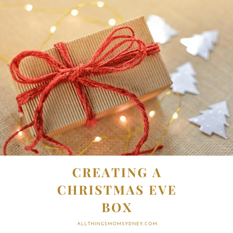 A Christmas Eve Box is a box filled with things for the kids to do or wear in anticipation of Christmas or for Christmas Day. In my mind a Christmas Box is about setting the scene for Christmas.