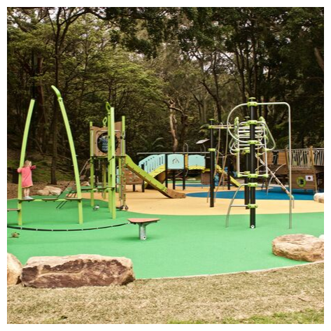 The new parsley bay playground is really lovely in that it just fits in with the area. The way it's been built, the equipment that has been included and the colouring of it all is just lovely. Just look how well the playground matches the space.  All images kindly provided by the Woollahra Municipal Council.