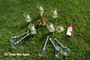 DIY Solar Chandelier Supplies