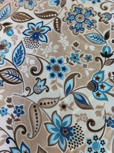 Brown and Blue Floral