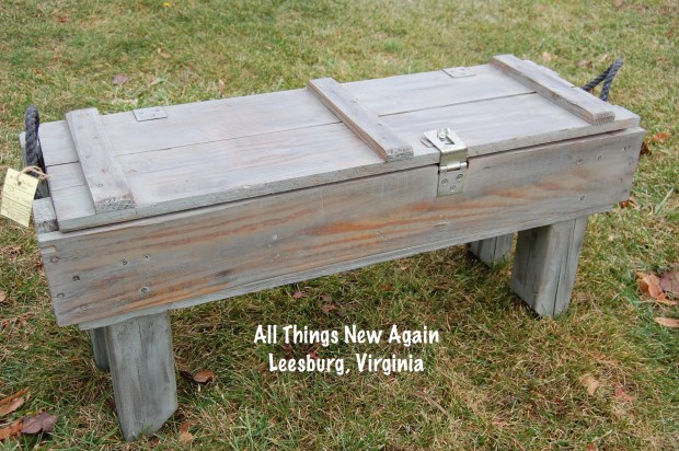 Man Cave Coffee Table | Upcycled Furniture | Storage Ideas | Storage Bench | Box Repurposed into Table
