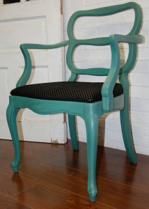 tropical jade chair w black seat