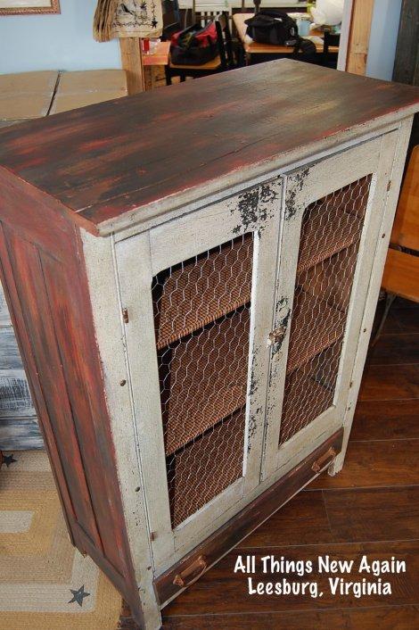 Handmade vintage cabinet. $250