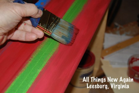 Every Patriotic American Flag Dresser needs crisp stripes. See the full tutorial at: www.AllThingsNewAgain.net