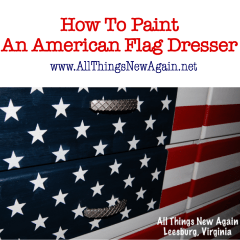How to Paint A Patriotic American Flag Dresser