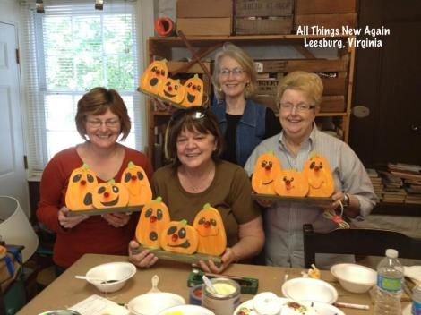 pumpkin trio workshop students