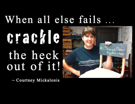 crackle the heck out of it quote