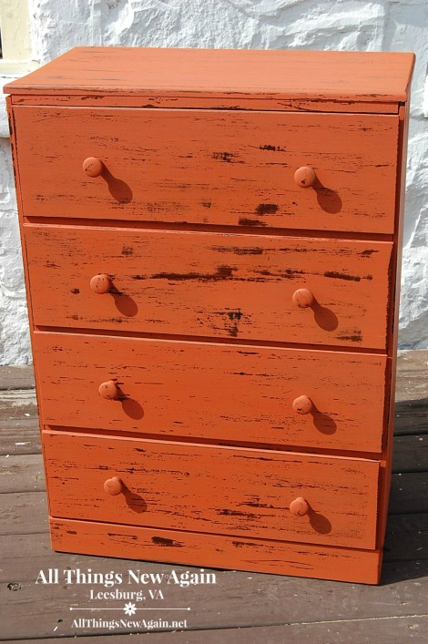 pale salmon chest of drawers