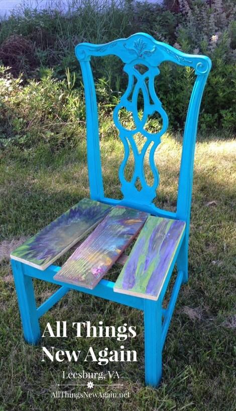 ray blue chair_unicorn spit closeup