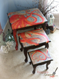 Oscar-The-Octopus-logo-Nesting-Table-Set-Handpainted-Uniquely-Grace-Shabby-Paints-Chalk-Paint-night-stand-end-table-225x300