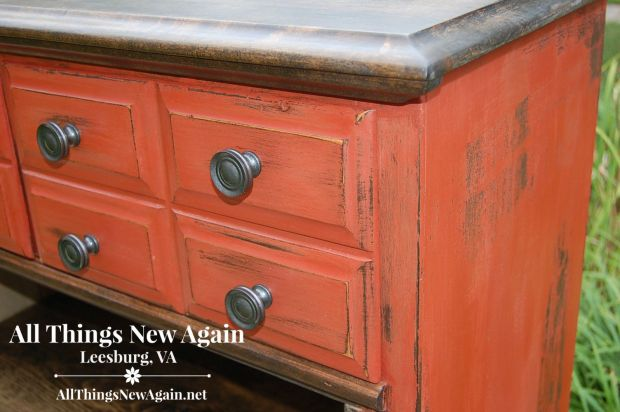 Create a rustic look with Real Milk Paint | Tutorial by All Things New Again, Northern Virginia