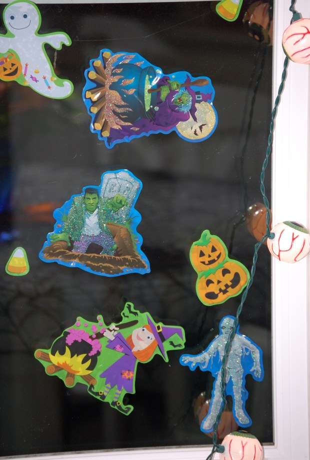 Halloween Home Tour | Window Clings | Cheap Halloween Decorations