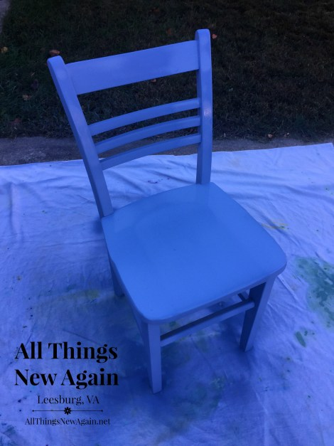 lace chair_painting it blue