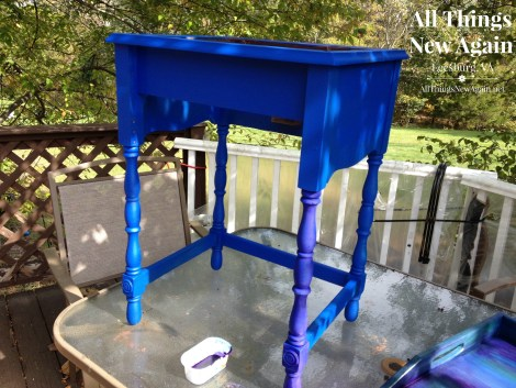 Unicorn SPiT as a glaze over painted furniture