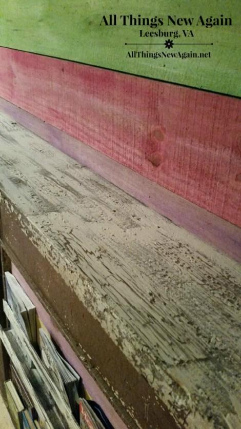mantle crackle paint closeup