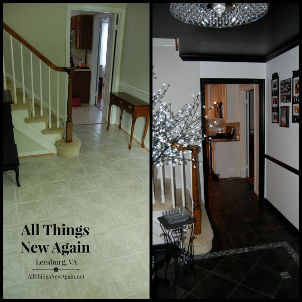 Entryway before and after1