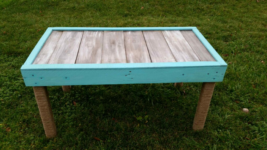 Merveilleux A Custom Built Wood Pallet Table U2026 And Our New Real Milk Paint Class