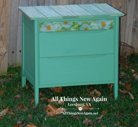 rustic green chest2