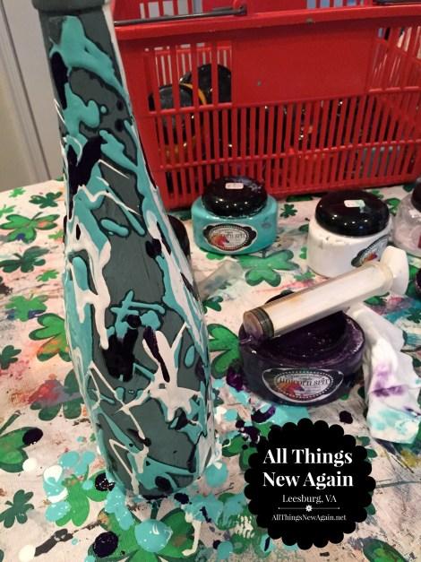 wine bottle art_stain press1