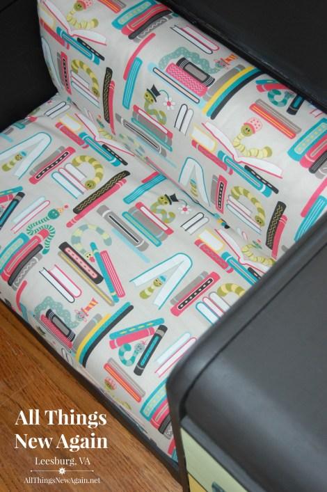 Kids Book Nook_Bookworm Fabric from Spoonflower