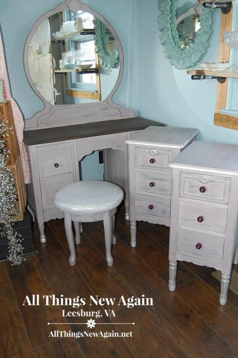 purple nightstands