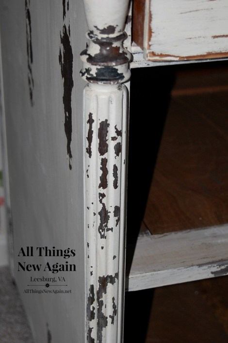 Real Milk Paint Chippy Paste dresser closeup