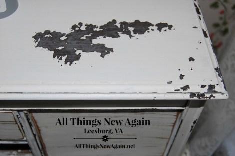 Real Milk Paint Chippy Paste dresser top