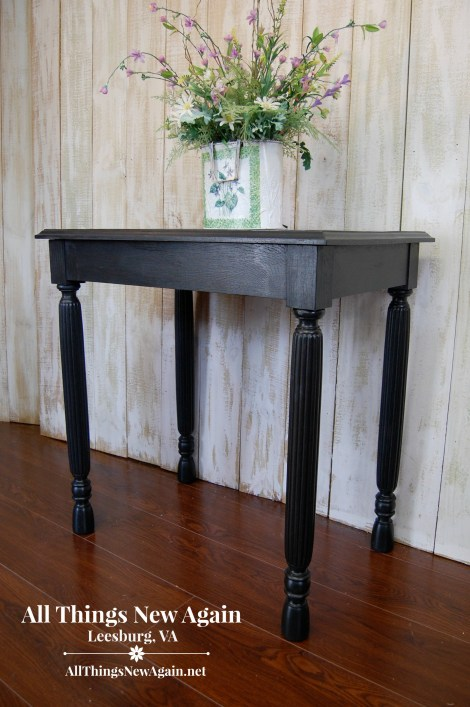 black shimmer spit table