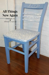Blue Lacy Love Chair