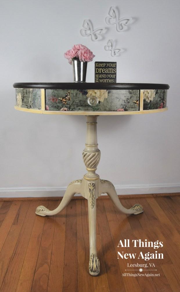 Vintage Drum Table   All Things New Again   Furniture Store   Leesburg VA