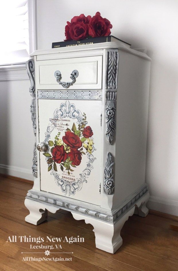 ReDesign with Prima | Wild Roses | Furniture Transfers | Available at All Things New Again, Leesburg VA
