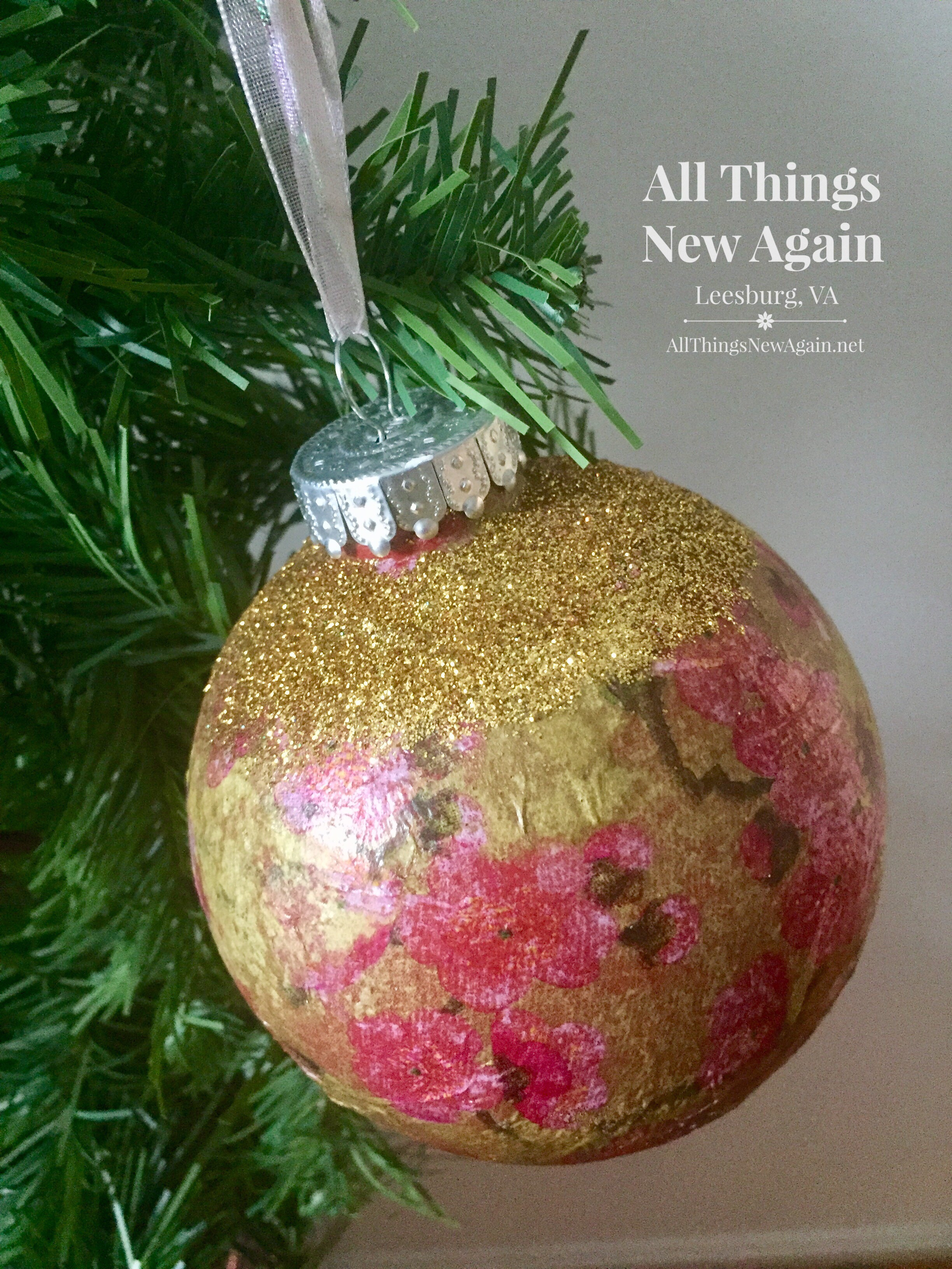 Decoupage Ornaments The Easy Way All Things New Again