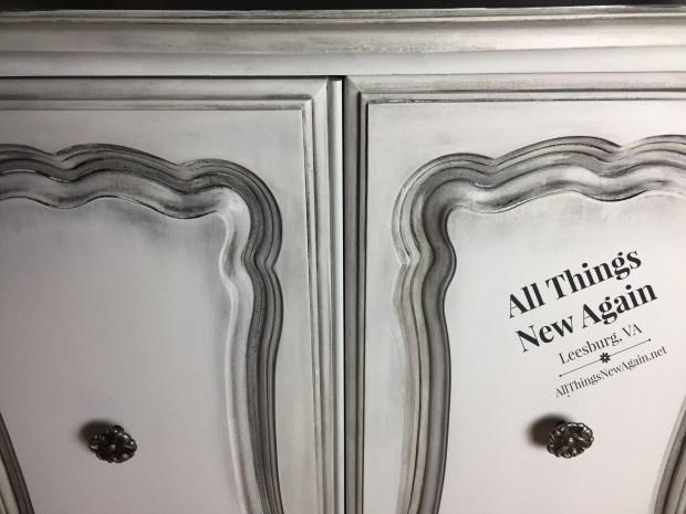 Dixie Belle Paint Company | Fluff | white chalk paint | Best Dang Wax | white paint with black wax