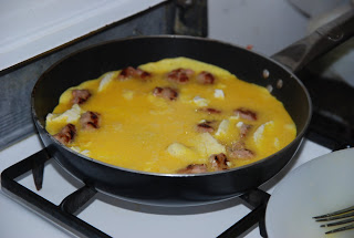 FRITTATA: SAUSAGE and RICOTTA