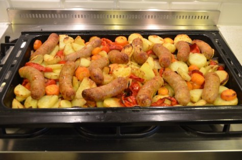 Lukes-Sausages-potatoes-coooked