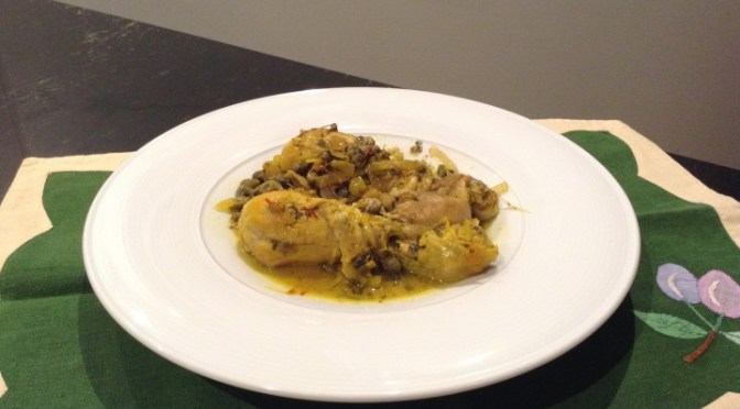 POLLO AL GUAZZETTO (Sardinian Chicken braised with Saffron)