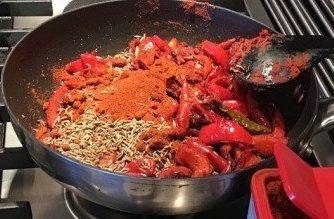 Harissa made with fresh Chillies