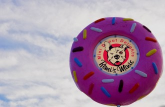 All you have to do is look for this pink donut and you're there!