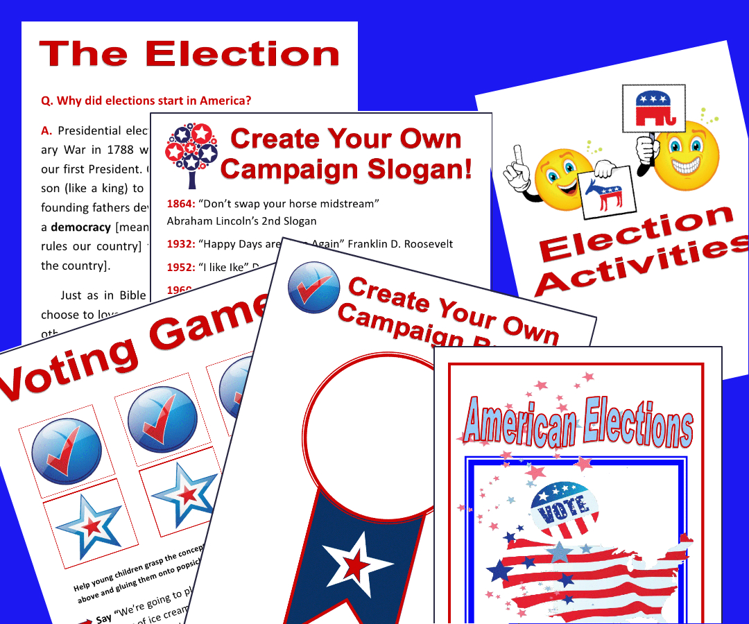 American Elections Unit Study And Activities