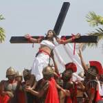 Re-enactment of the crucifixion