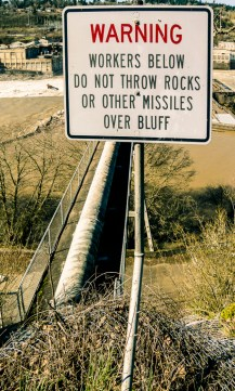 Warning sign in Oregon City, Oregon by Ceen Photography