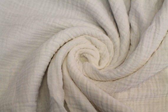 tissu double gaze blanc casse de qualite coupon de 3 metres tissu pas cher alltissus com