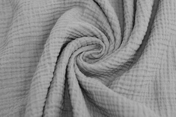 tissu double gaze gris clair de qualite coupon de 3 metres tissu pas cher alltissus com